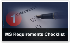 MS Requirements Checklist